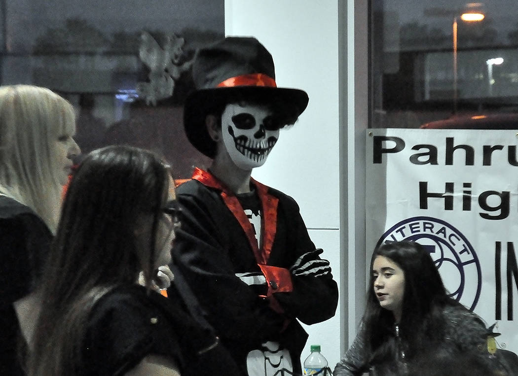 Horace Langford Jr./Special to the Pahrump Valley Times Scary characters made a showing at Pahrump Valley Auto Plaza's Trunk or Treat event. The three-hour-long event was held at 2060 E. Charlesto ...