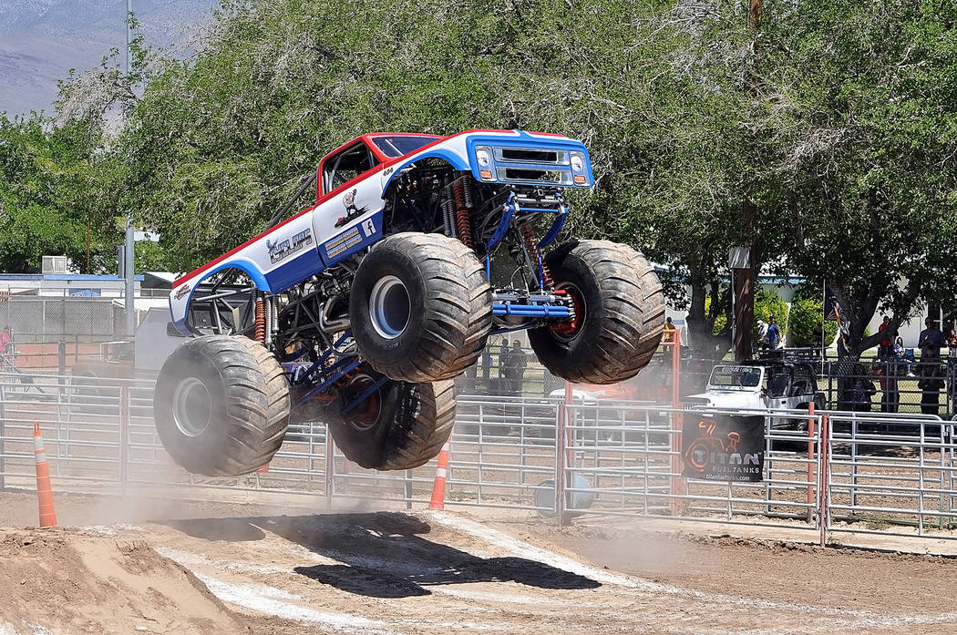Horace Langford Jr./Pahrump Valley Times The Monster Truck Insanity Tour returns to Pahrump Nov. 2-3 with shows at Pahrump Valley Speedway.