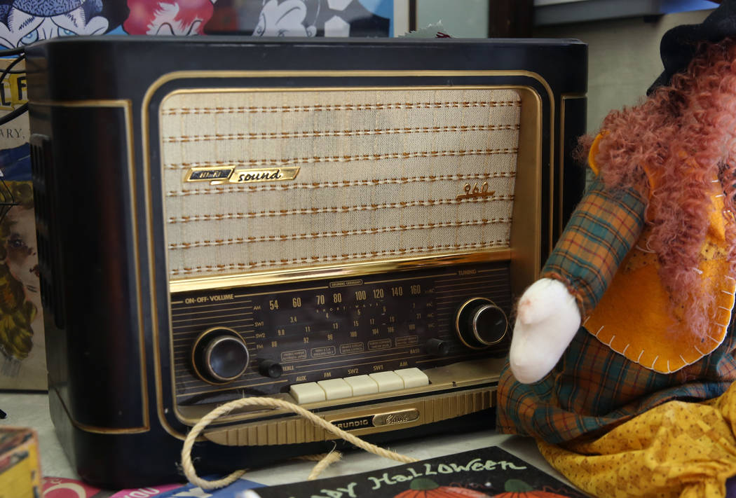 Bizuayehu Tesfaye/Las Vegas Review-Journal Grundig Classic 960 vintage radio is displayed at Not Just Antiques Mart on Wednesday, Oct. 24, 2018, in Las Vegas.