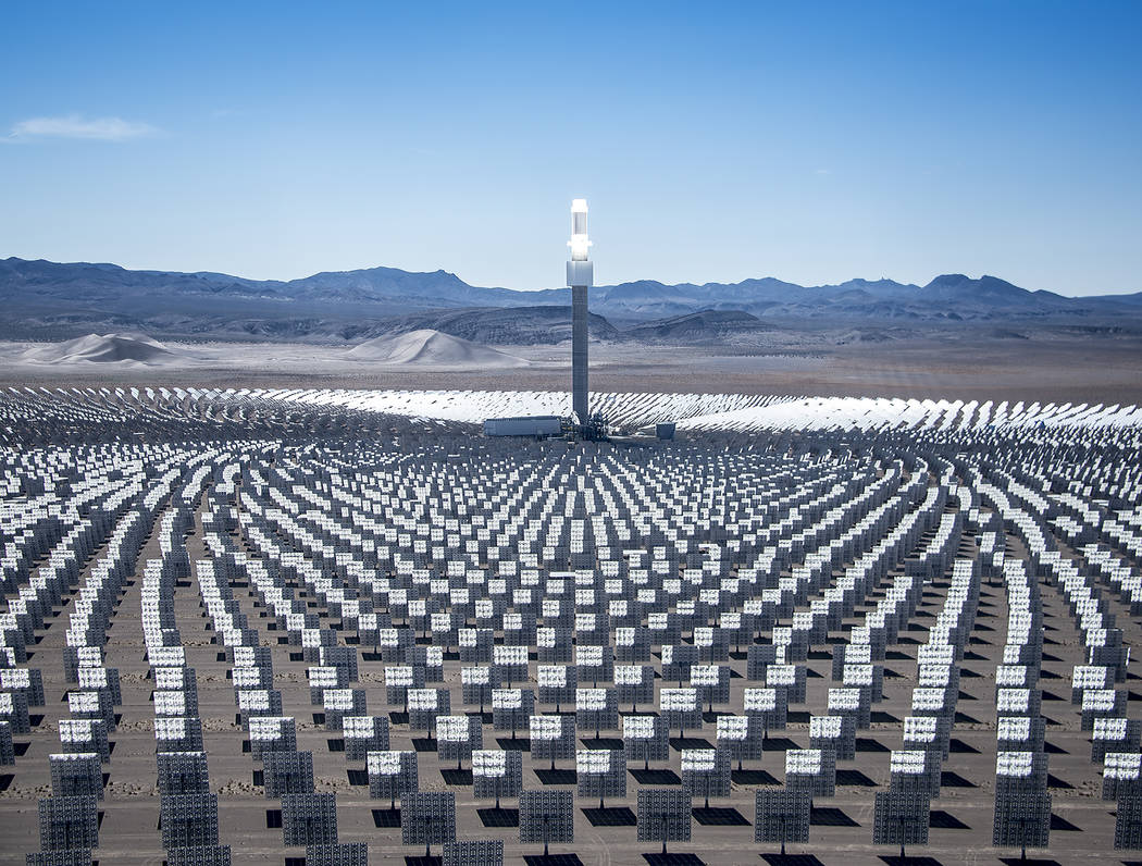Special to the Pahrump Valley Times SolarReserve operates Crescent Dunes Solar Energy Project near Tonopah.
