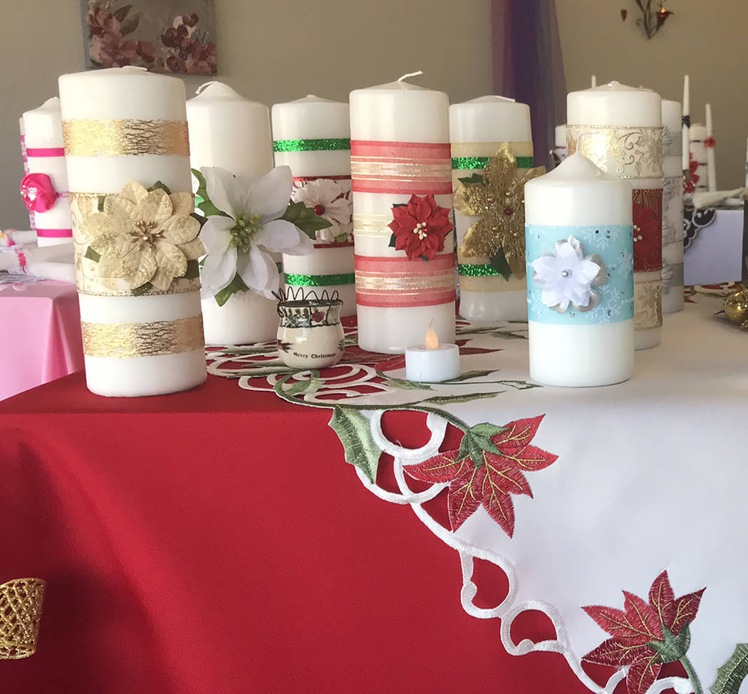 Jeffrey Meehan/Pahrump Valley Times The Unity Candle at 4760 Pahrump Valley Blvd., Suite 5, carries candles for many holidays, including Christmas and Thanksgiving. The store also carries candles ...