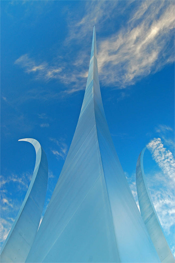 Thinkstock Leroy Hofer said the Air Force Memorial was one of the most visually stunning he had ever seen, with the arcs rising into the sky reminiscent of jet trails.