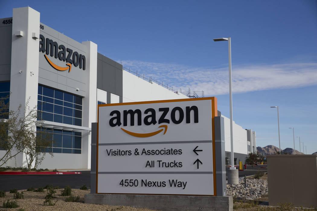 Erik Verduzco/Las Vegas Review-Journal The Amazon Fulfillment Center in North Las Vegas, Wednesday, Jan. 3, 2018.