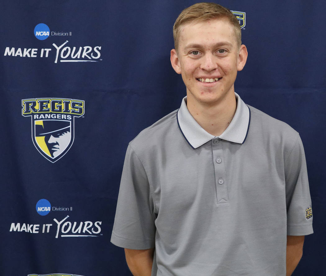 Regis University Austen Ancell, a former state golf champion at Pahrump Valley High School, averaged 76.3 strokes per round during the fall season at Regis University, an NCAA Division II school i ...