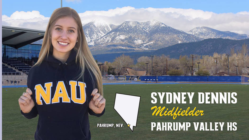 Northern Arizona University Pahrump Valley High School graduate Sydney Dennis was part of the 2018 recruiting class for Northern Arizona University, a member of the NCAA Division I Big Sky Conference.