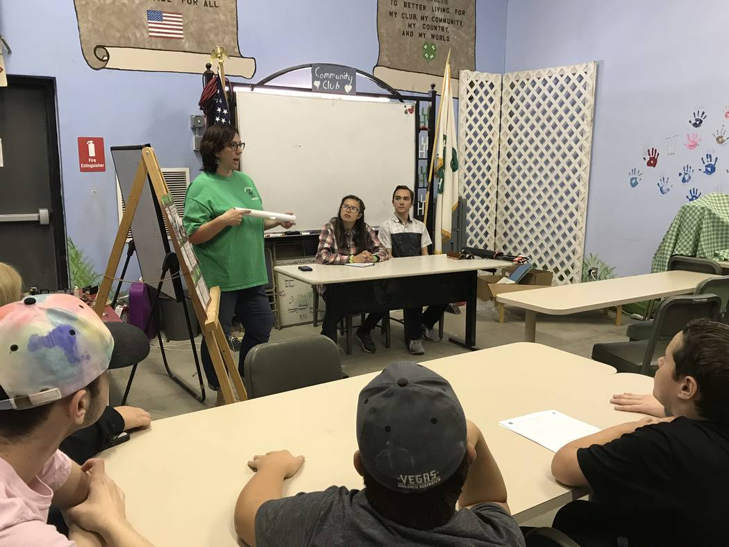 Jeffrey Meehan/Pahrump Valley Times The Pahrump Southern Nye County 4-H's Shooting Sports Club's monthly meeting on Oct. 14, 2018.