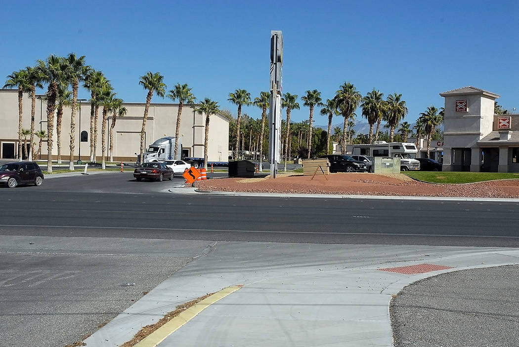 Horace Langford Jr./Pahrump Valley Times - A view of the stretch of Highway 160 between Postal Drive and Saddle West, which has been selected for a new crosswalk.