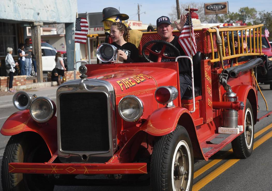 Richard Stephens/Special to the Pahrump Valley Times A look at the Beatty Days parade and an old fire engine. This year's parade was held Oct. 27.