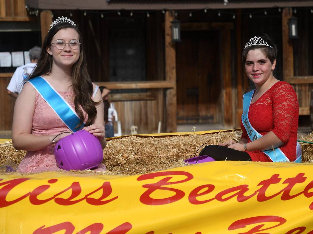 Richard Stephens/Special to the Pahrump Valley Times Courtney Willis was crowned Miss Beatty, and Jasmine Wright was runner-up. Junior Miss Beatty was Danielle Taylor, and Jenazy Partida was runne ...