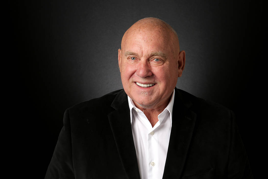 Michael Quine/Las Vegas Review-Journal Dennis Hof, Republican candidate for Nevada State Assembly District 36, is photographed at the Las Vegas Review-Journal offices in August. He died Oct. 16.