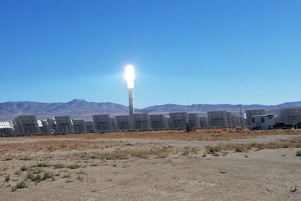 David Jacobs/Pahrump Valley Times Tonopah Solar Energy LLC is a subsidiary of SolarReserve, a Santa Monica, Calif.-based privately held company that calls itself a leading global developer of util ...