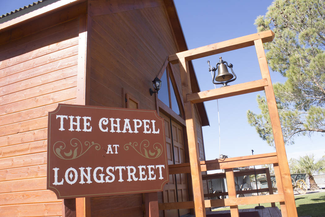 Jeffrey Meehan/Pahrump Valley Times The Chapel at Longstreet, a replica of a 19th century Catholic church, sits on the campus of the Longstreet Inn Casino & RV Resort in Amargosa Valley. The origi ...