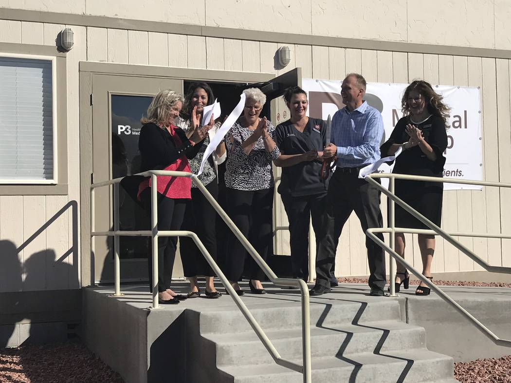 Jeffrey Meehan/Pahrump Valley Times P3 Medical Group holds a grand opening celebration and ribbon cutting ceremony on Oct. 30, 2018.