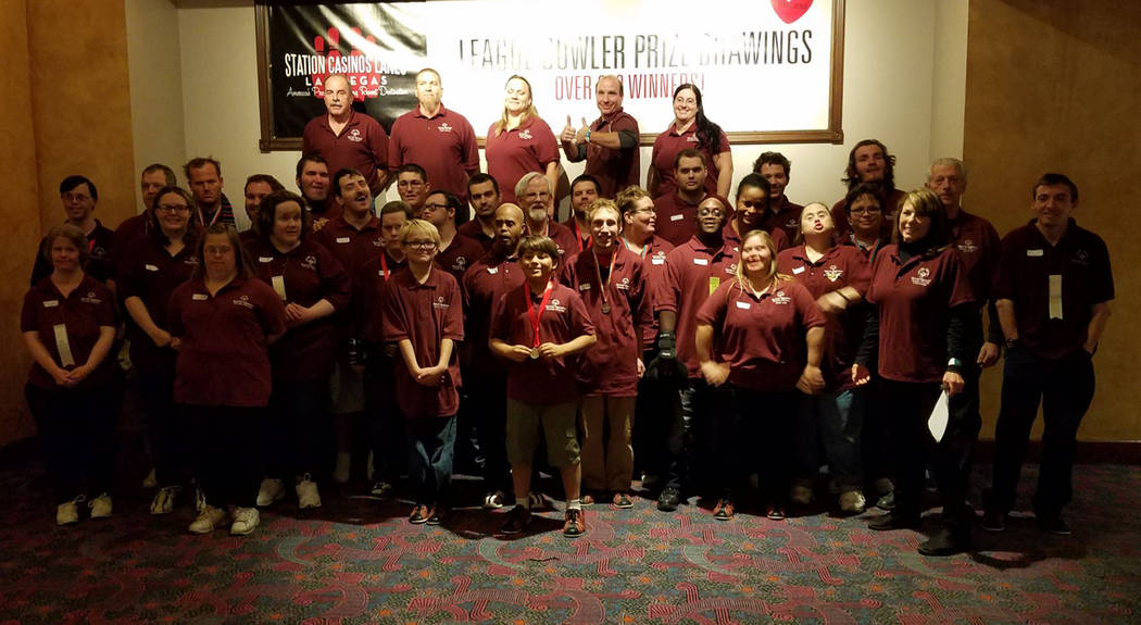 Debbie Brooks/Special to the Pahrump Valley Times Nye County Special Olympics bowlers at Texas Station in Las Vegas after winning 38 medals in the Southern Nevada Regional Tournament.