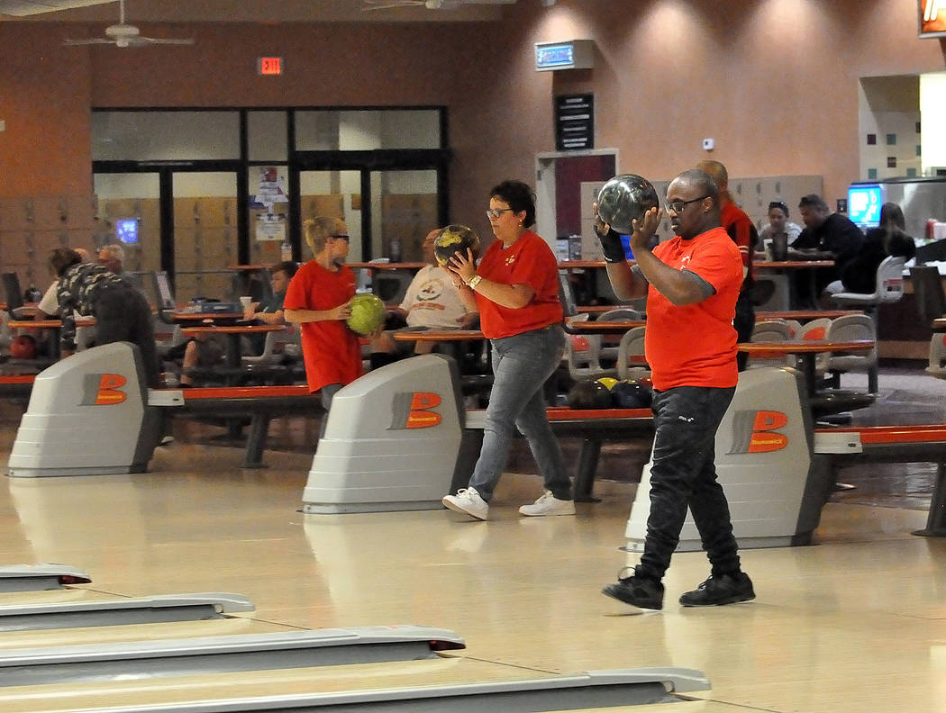 Horace Langford Jr./Pahrump Valley Times Special Olympics bowlers practice Nov. 5 at the Pahrump Nugget in preparation for the Southern Nevada Regional Tournament in Las Vegas.