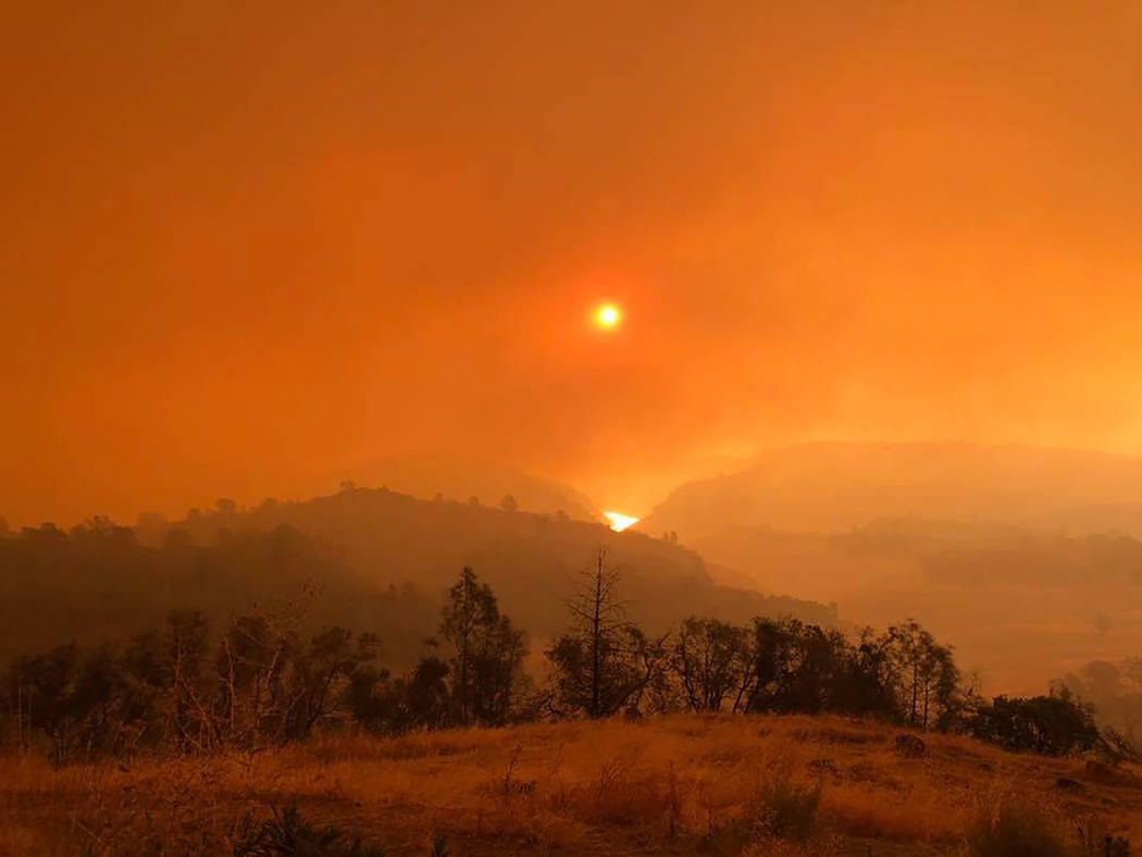 Photo courtesy Reno Firefighters Association A look at the scene on Nov. 9 in the Paradise, California area as shown in a photo taken that day. Reno firefighters are among crews from Nevada workin ...
