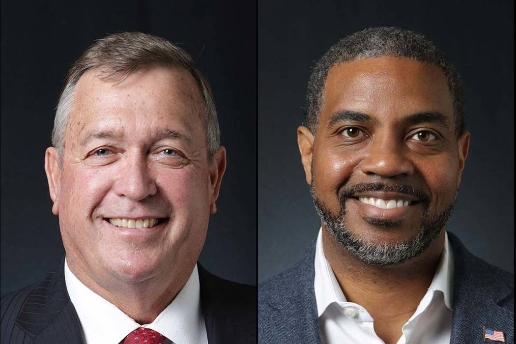Las Vegas Review-Journal Cresent Hardy, left, and Steven Horsford, candidates for 4th Congressional District, a contest won by Horsford.