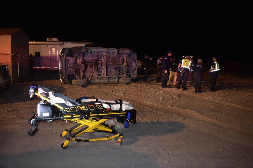 Special to the Pahrump Valley Times On Friday Nov. 9, emergency crews were dispatched to a rollover crash with entrapment in the area of Thousandaire Boulevard and Lisa Street just before 8:30 p.m ...