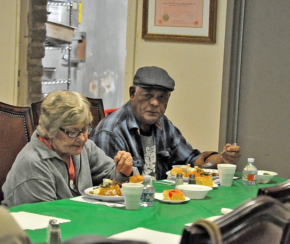 Horace Langford Jr./Pahrump Valley Times - Veterans fill up on a free turkey dinner at an American Legion sponsored event.
