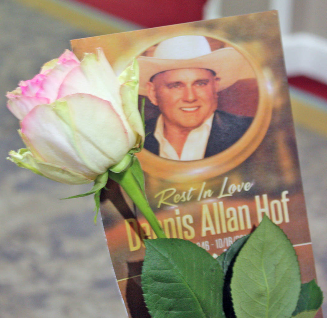 Robin Hebrock/Pahrump Valley Times All memorial attendees received an event program and a rose as keepsakes.