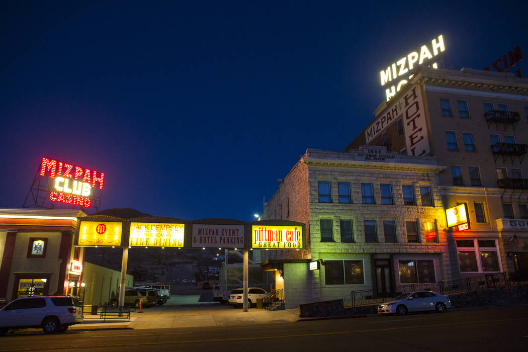 Chase Stevens Las Vegas Review-Journal The Mizpah Hotel was voted the No. 1 haunted hotel in the U.S. by the USA Today's 10 Best Reader's Choice Awards. The results were released in October.