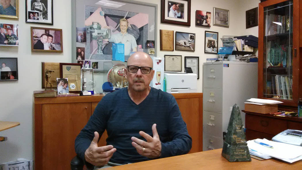 Selwyn Harris/Pahrump Valley Times Vern Van Winkle, President and CEO of KPVM Television 46, earlier this fall discusses he and his wife Ronda's 20 year journey of providing local news and ente ...