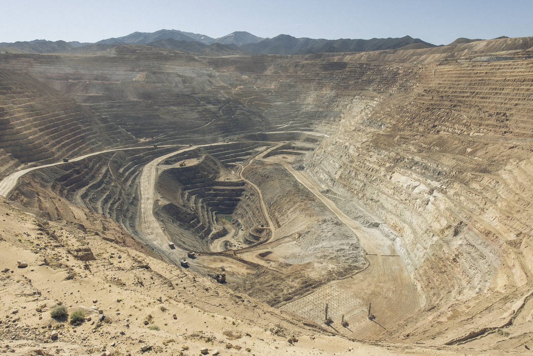 Courtesy Round Mountain Gold Corp. Operations of the Round Mountain Gold Corp. in Round Mountain. The mine sits about 55 miles north of Tonopah.