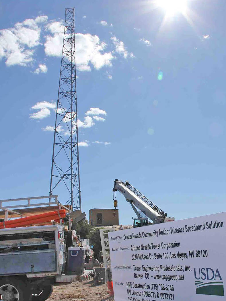 Special to the Pahrump Valley Times Communication is key when it comes to telehealth. Broadband transmission facilities play an imperative role in expanding access to these kinds of services. Phot ...