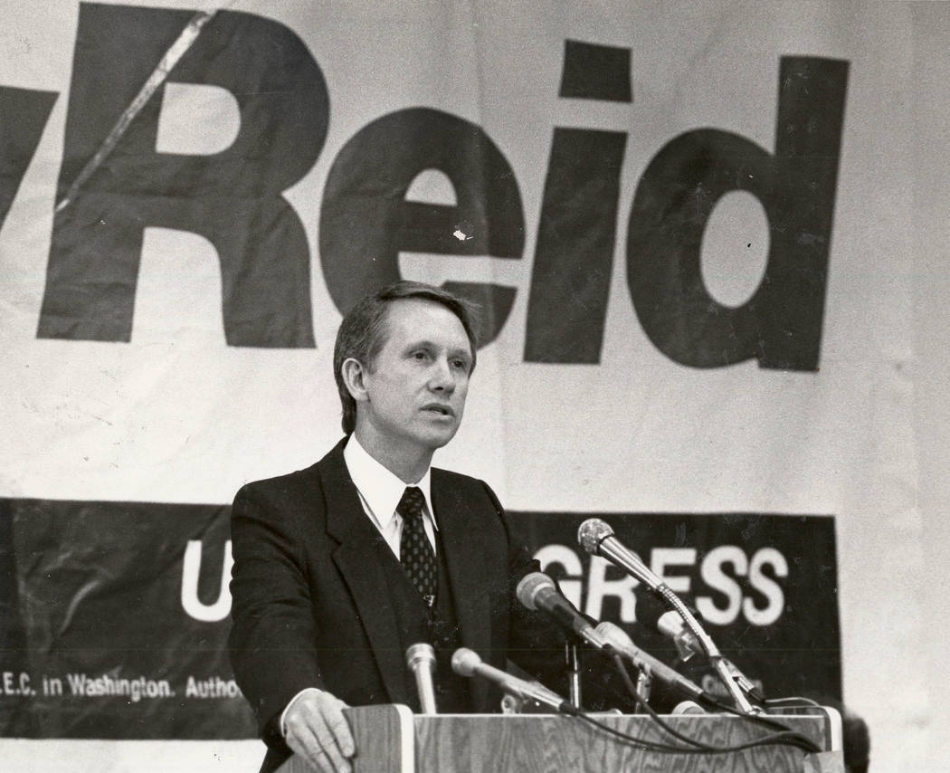 Harry Reid on May 5, 1982. Gary Thompson/Las Vegas Review-Journal