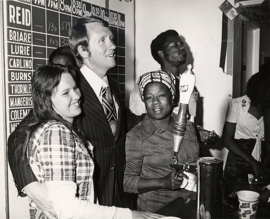 Harry Reid during Mayoral Run in 1975.