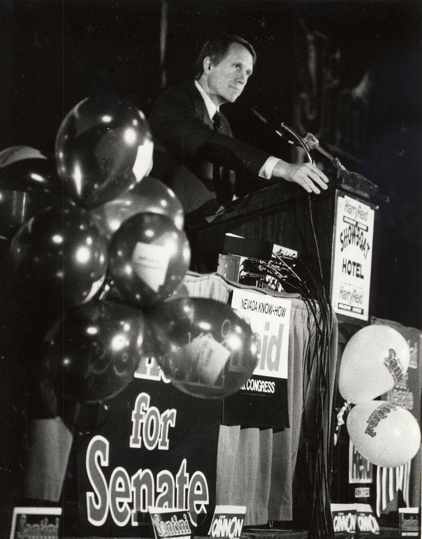 Harry Reid on March 27, 1982. Gary Thompson/Las Vegas Review-Journal