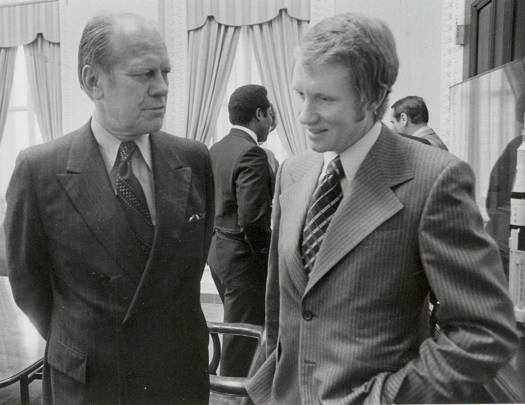 Harry Reid with President Gerald R. Ford.