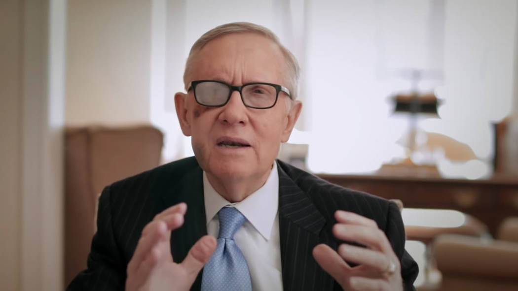 A still image taken from a video U.S. Sen. Harry Reid posted to his website March 27, 2015, announcing he will not seek re-election.