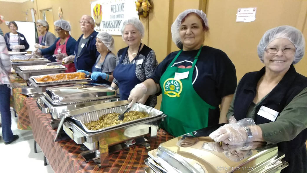 Selwyn Harris/Pahrump Valley Times Without the help of volunteers, officials at NyE Communities Coalition's Holiday Task Force said the annual Thanksgiving Day dinner would have been near impossib ...
