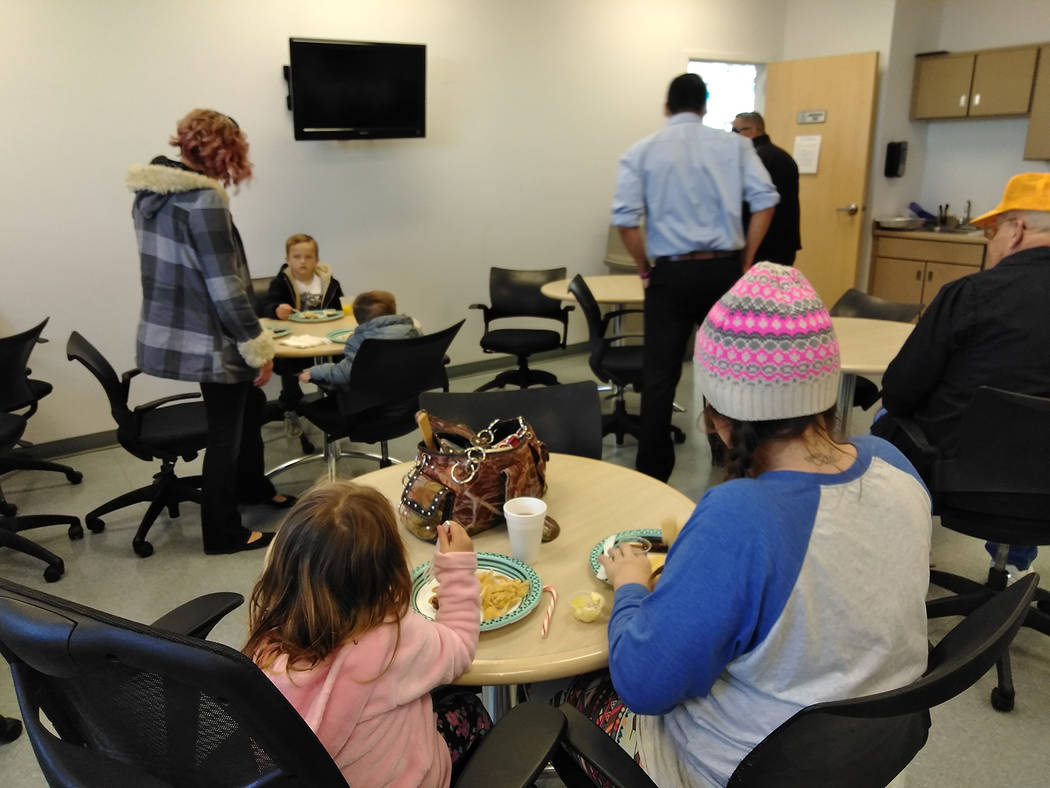 Selwyn Harris/Pahrump Valley Times Local families are shown spending quality time together at the Breakfast with Santa event hosted in 2017. The annual event is also a fundraiser for the Letters ...