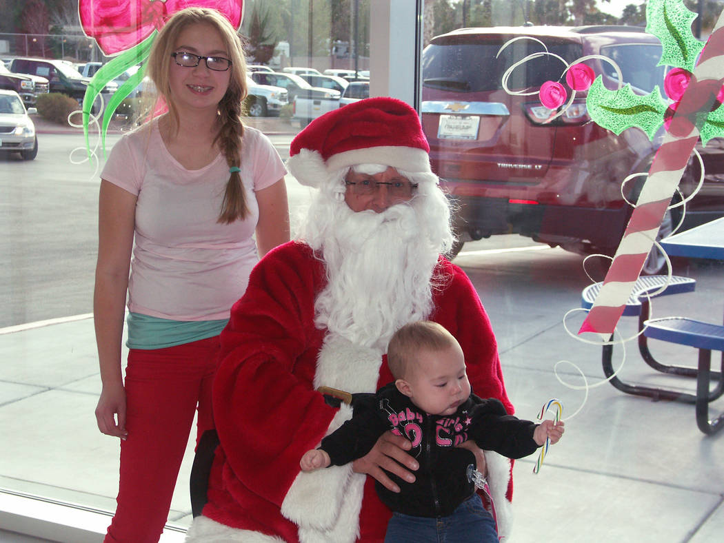 Pahrump Valley Times file photos - The Lions Club Breakfast with Santa event is free for children 12 and under. This year's event starts at 8 a.m. at the Pahrump Valley Auto Plaza.