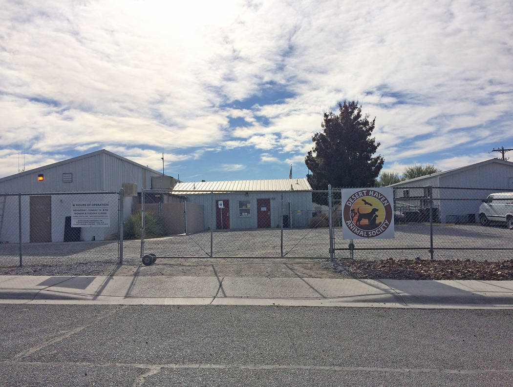 Robin Hebrock/Pahrump Valley Times Desert Haven Animal Society is located at 1511 E. Siri Lane in Pahrump.