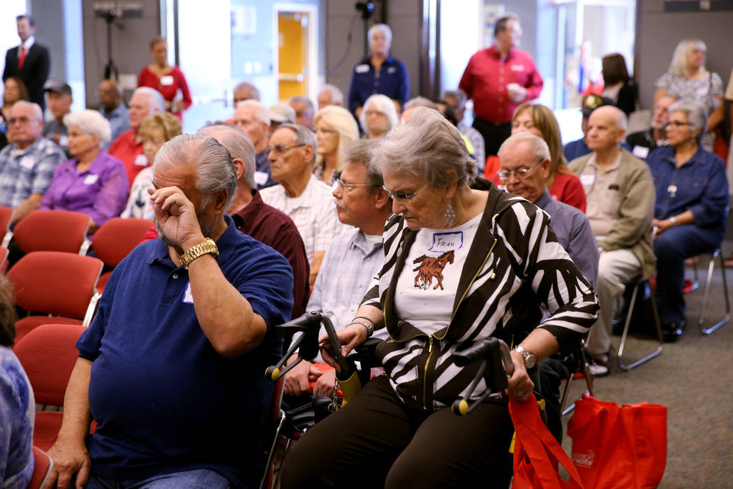 Cold War Patriots, family members and friends during the Official National Day of Remembrance honoring all Nevada Test Site workers, their family members and friends at National Atomic Testing Mus ...