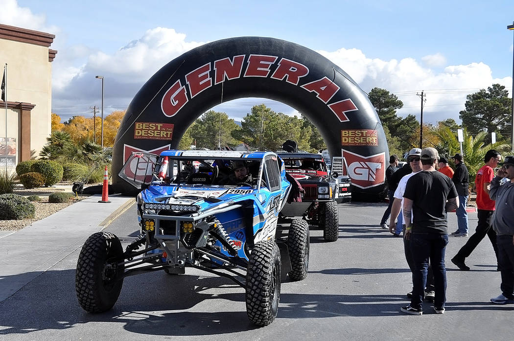 Horace Langford Jr./Pahrump Valley Times Technical inspections for the Pahrump Nugget 250 on Friday were done in the shadow of the finish line for Saturday's off-road race.Tech Inspection Friday N ...