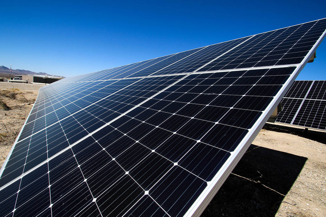 Nevada National Security Site A 424-kilowatt solar array was completed in 2018 at the Nevada National Security Site. The array is currently powering fire station No. 1, now a net-zero energy buil ...