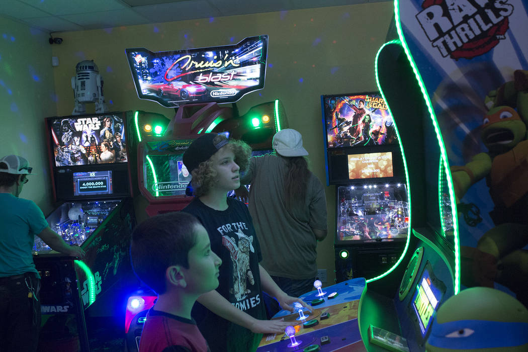Jeffrey Meehan/Pahrump Valley Times Local children and others play a variety of arcade-style video games at Game Corner on June 23, 2018 at 1190 E. Highway 372, Suite 17. Game Corner expanded to t ...