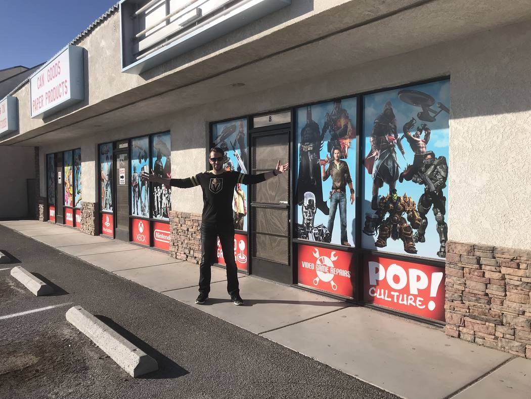 Jeffrey Meehan/Pahrump Valley Times Josh Osborne, co-owner of the Game Corner at a strip mall at 1190 E. Highway 372, Ste. 17-18, is planning a big increase in his footprint and services he curren ...