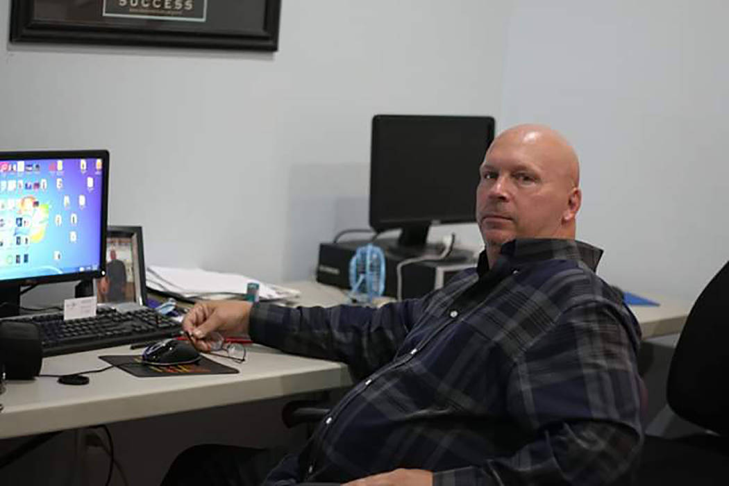 Tim Burke/Special to the Pahrump Valley Times Daniel Tiberio is shown at a job resource center where he was working on his resume. He has been unable to find a good paying job even though he has r ...