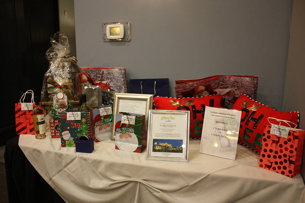 Robin Hebrock/Pahrump Valley Times Raffles prizes were a big draw for Festival of Trees attendees, with items such as a two night, three day stay at the South Point Casino in Las Vegas.