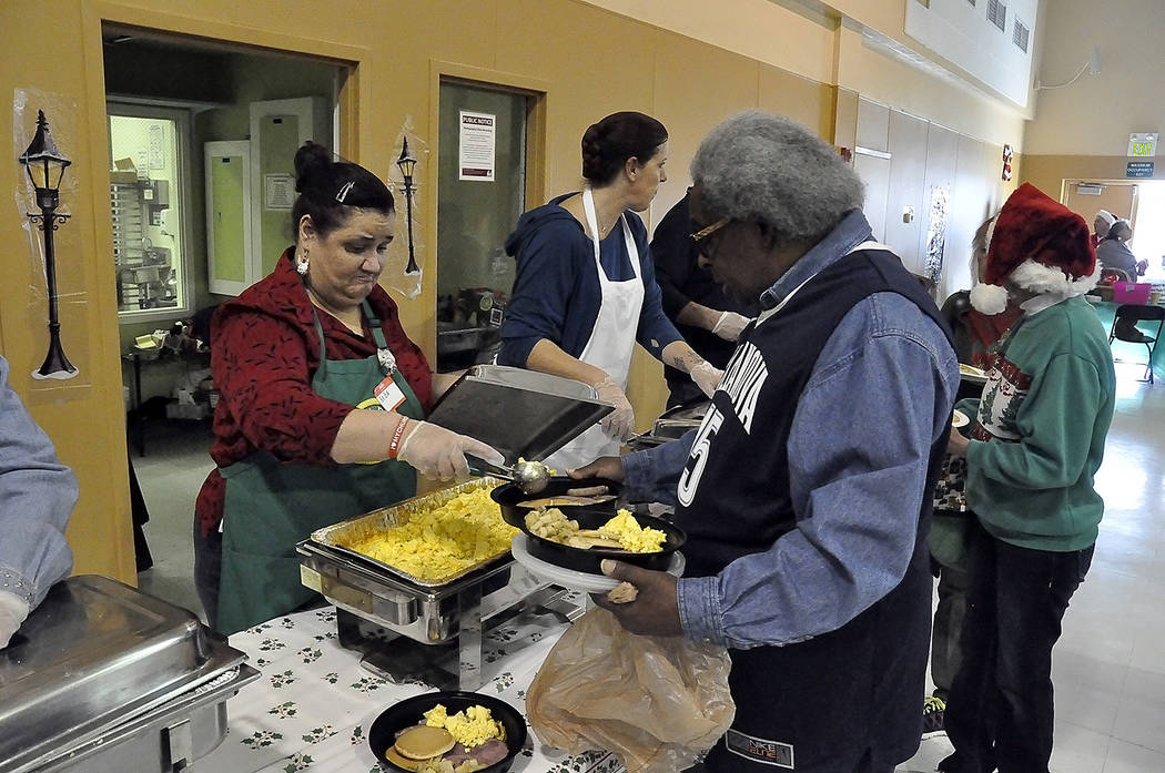 Horace Langford Jr./Pahrump Valley Times Upwards of 400 individuals and families attended the 2017 Community Christmas Brunch, where a buffet-style meal was provided on Christmas Day.