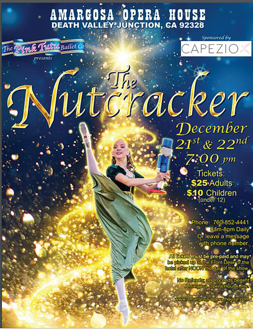 Special to the Pahrump Valley Times A look at a promotional item for the Nutcracker, which is set to be performed later this week at the Amargosa Opera House.
