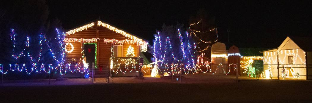 Richard Stephens/Special to the Pahrump Valley Times The first place winner in the residential category of the Christmas lighting contest.