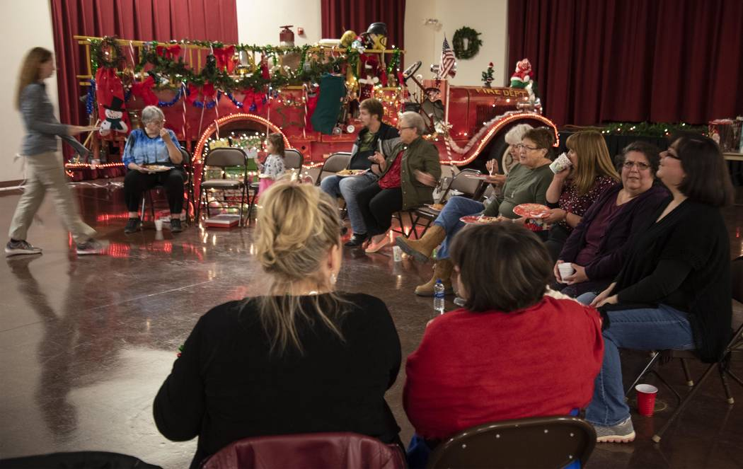 Richard Stephens/Special to the Pahrump Valley Times Area ladies gather for the second annual Cookie and Ornament Exchange at the Beatty Community Center.