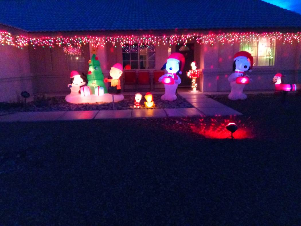 Michele Zauba/Special to the Pahrump Valley Times A residence in the area of the winery, north of Highway 160, is putting on its Christmas cheer. For those interested in seeing the display can hea ...