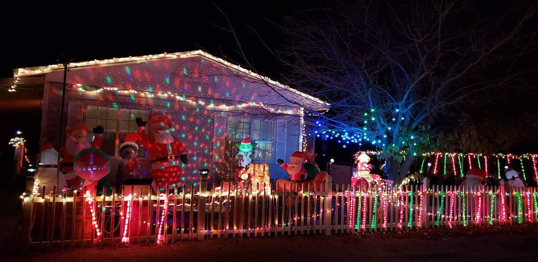Carol Vocke/Special to the Pahrump Valley Times Stop by and check out the colorful display of lights and festive characters along Ellendale St. in the Comstock Park area.